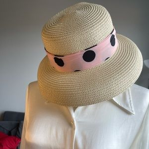 Hat with 2 scarf